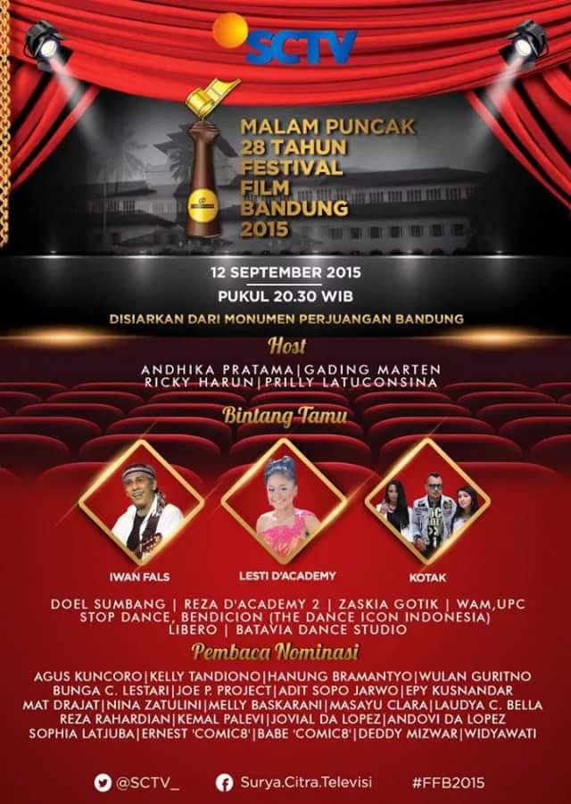 Malam Puncak 28 Tahun Festival Film Bandung 2015